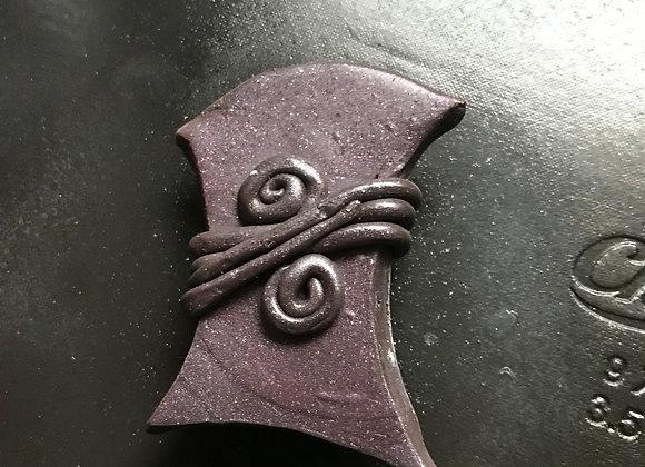 Purple Clay Wrap Brooch