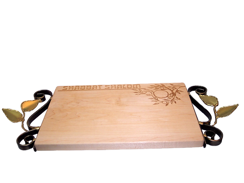 GARY ROSENTHAL TREE OF LIFE CHALLAH BOARD (IN STOCK)