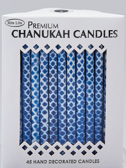 RITE LITE BLUE AND WHITE CHANUKAH CANDLES