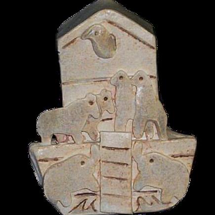 RENEE VICHINSKY NOAH'S ARK TZEDAKAH BOX