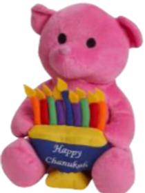 Plush Pink Chanukah Bear