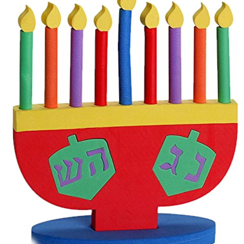 CHILD'S FOAM MENORAH