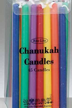 RITE LITE MULTICOLOR CHANUKAH CANDLES