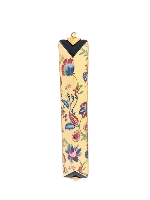 DANNY AZOULAY HANDPAINTED FLORAL MEZUZAH