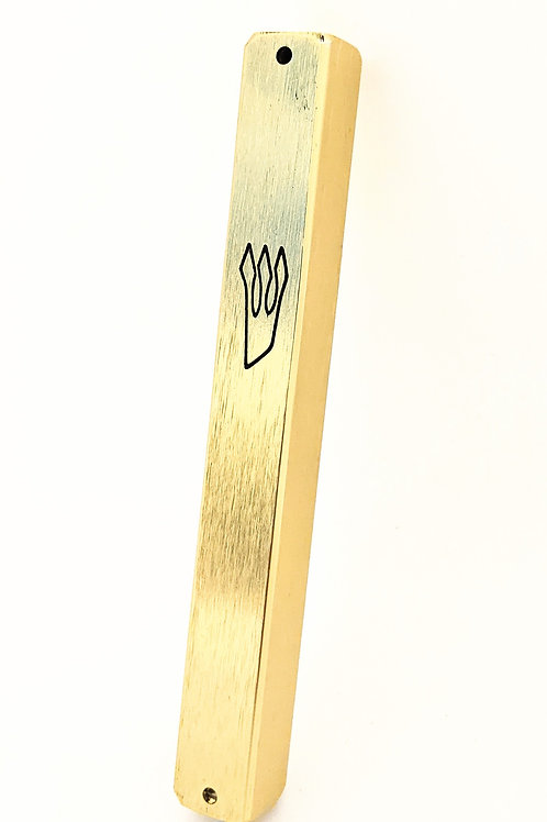 CONTEMPORARY GOLD COLOR ALUMINUM MEZUZAH