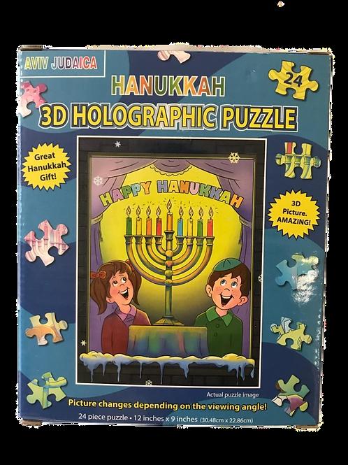 HANUKKAH 3D HOLOGRAPHIC PUZZLE