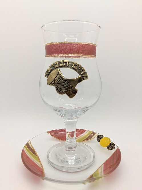 MIRIAM'S CUP BY LILY ART GLASS