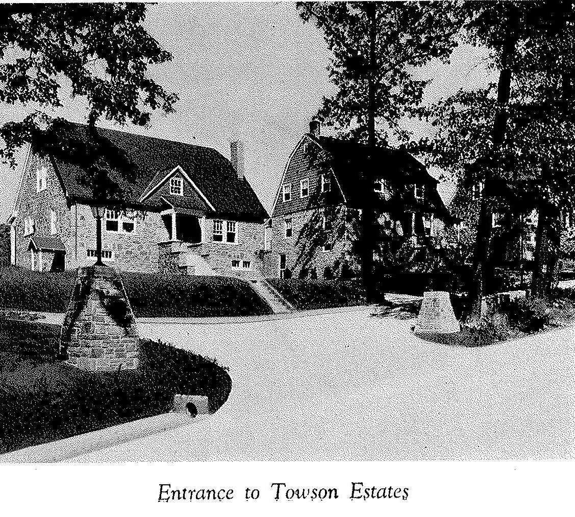 Entrance to Towson Estates