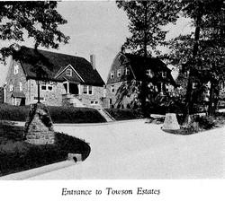 Entrance to Towson Estates