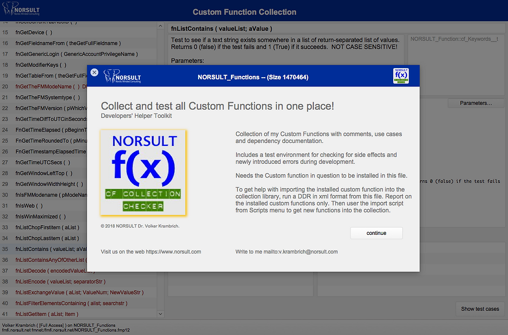 NORSULT_Functions Startup Screen