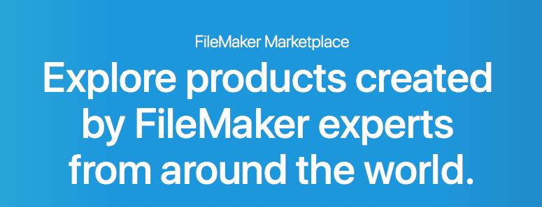 Teaser Text für FileMaker Marktplatz