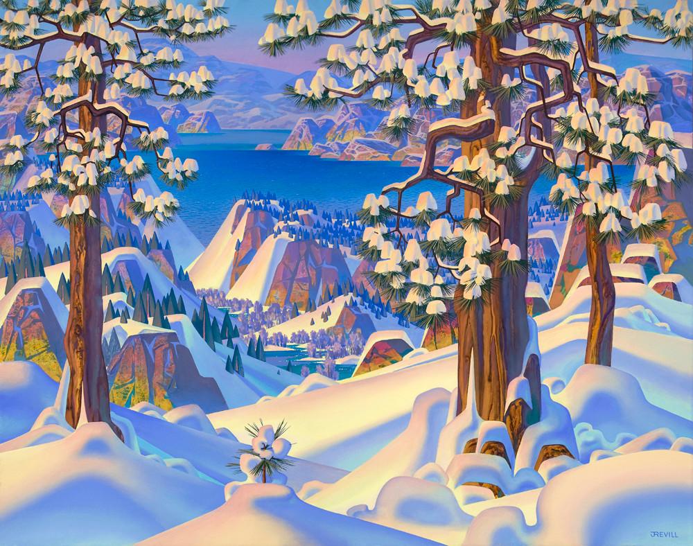 984 Snow Laden Pines 22''x28''.jpg