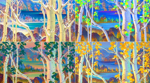 967 969 970 974 The Four Seasons 16''x24