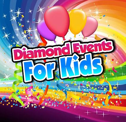 Diamond Events Kids Logo - Black outline
