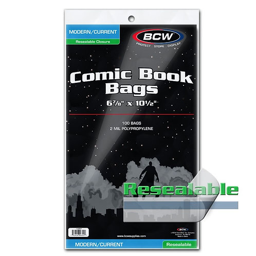 Resealable Current/Modern Comic Book Bags