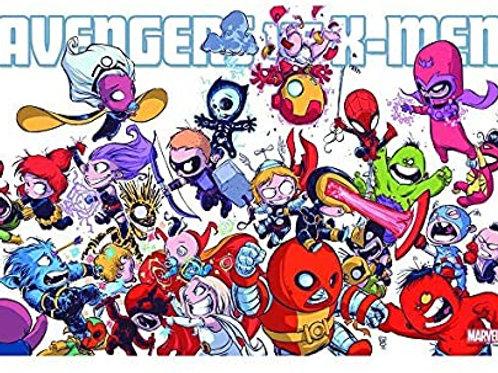 Avengers vs. X-Men (Skottie Young Poster)