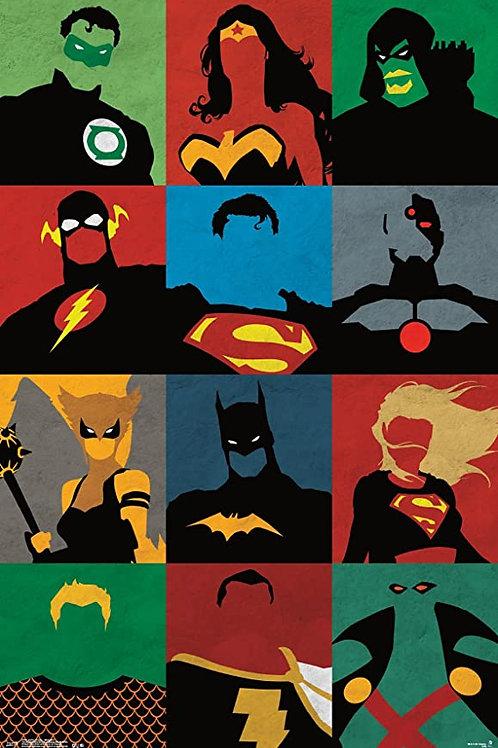 Justice League (Minimalist Poster)