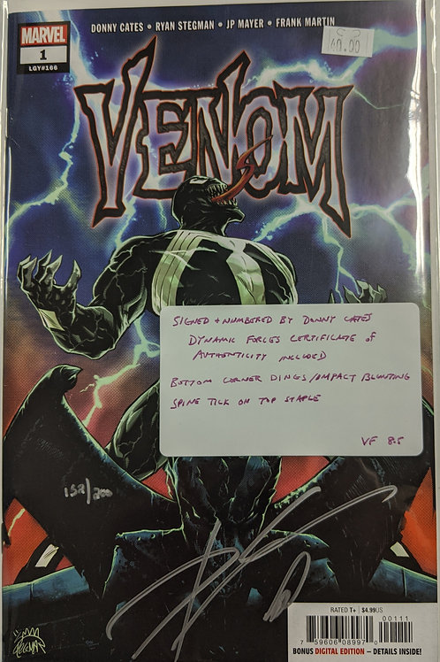 Venom #1 (2018) Signed by Donny Cates (COA included)