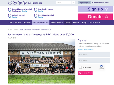 Club's Fundraising Efforts Published