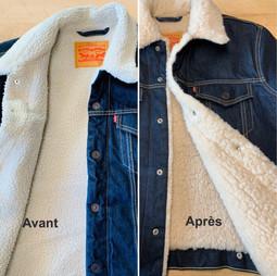 Doublure d'une veste en jeans