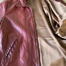 Doublure d'une veste en cuir