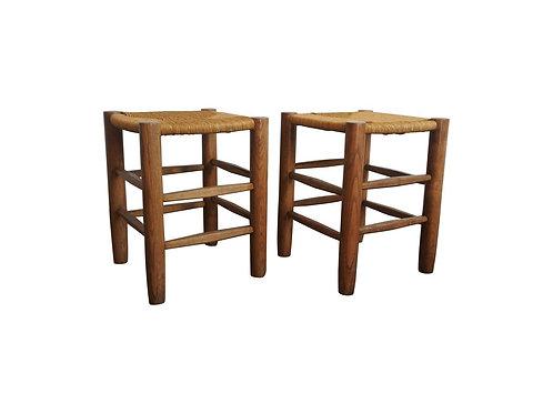1950. Charlotte Perriand. Set 2 stools
