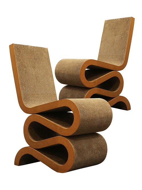 1970. Franck Ghery. Set 2 Chairs