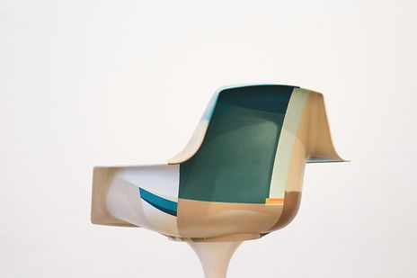 Fauteuil design 1972 Orlowski / Bims_street_art_clement_cividino