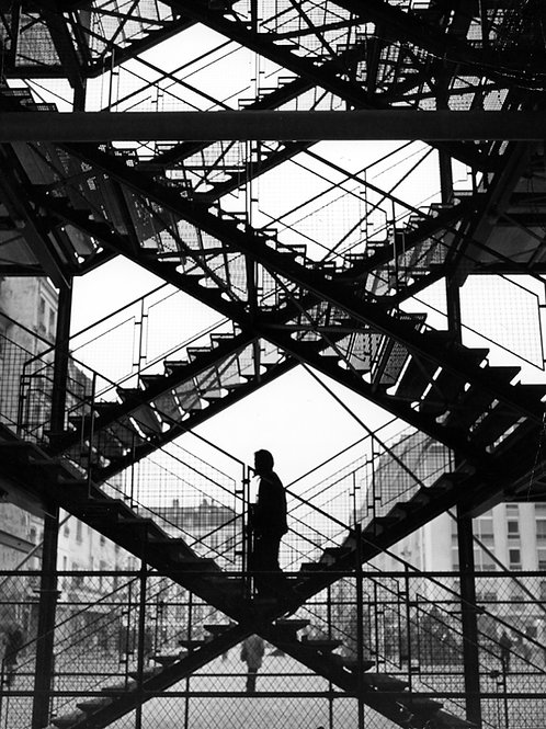 1970. Jean Ribière. Escalier Beaubourg