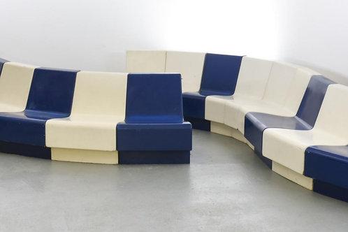 1970. set 14 armchairs airpot J. MOTTE