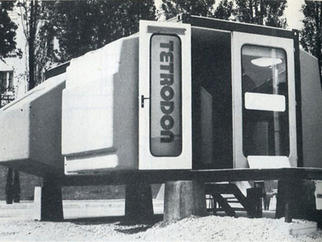 """1972. Habitat modulaire """"Tétrodon""""Atelier d'urbanisme et d'architecture (AUA) par Jacques Berce, Hen"""