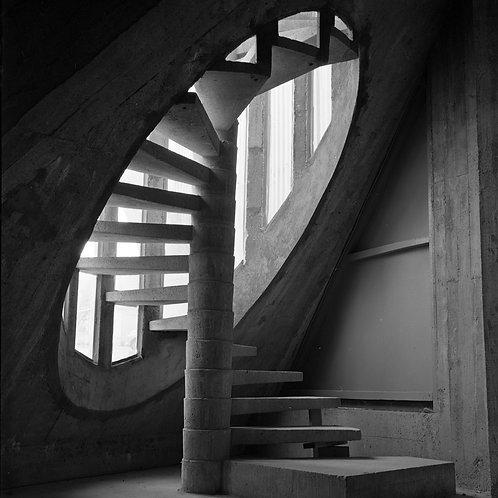 1970. Jean Ribière. Escalier Royan