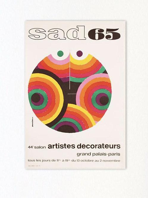 1Original poster - serigraphy exhibition design Paris SAD