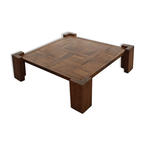 1960's. Anonyme. Coffee table wood