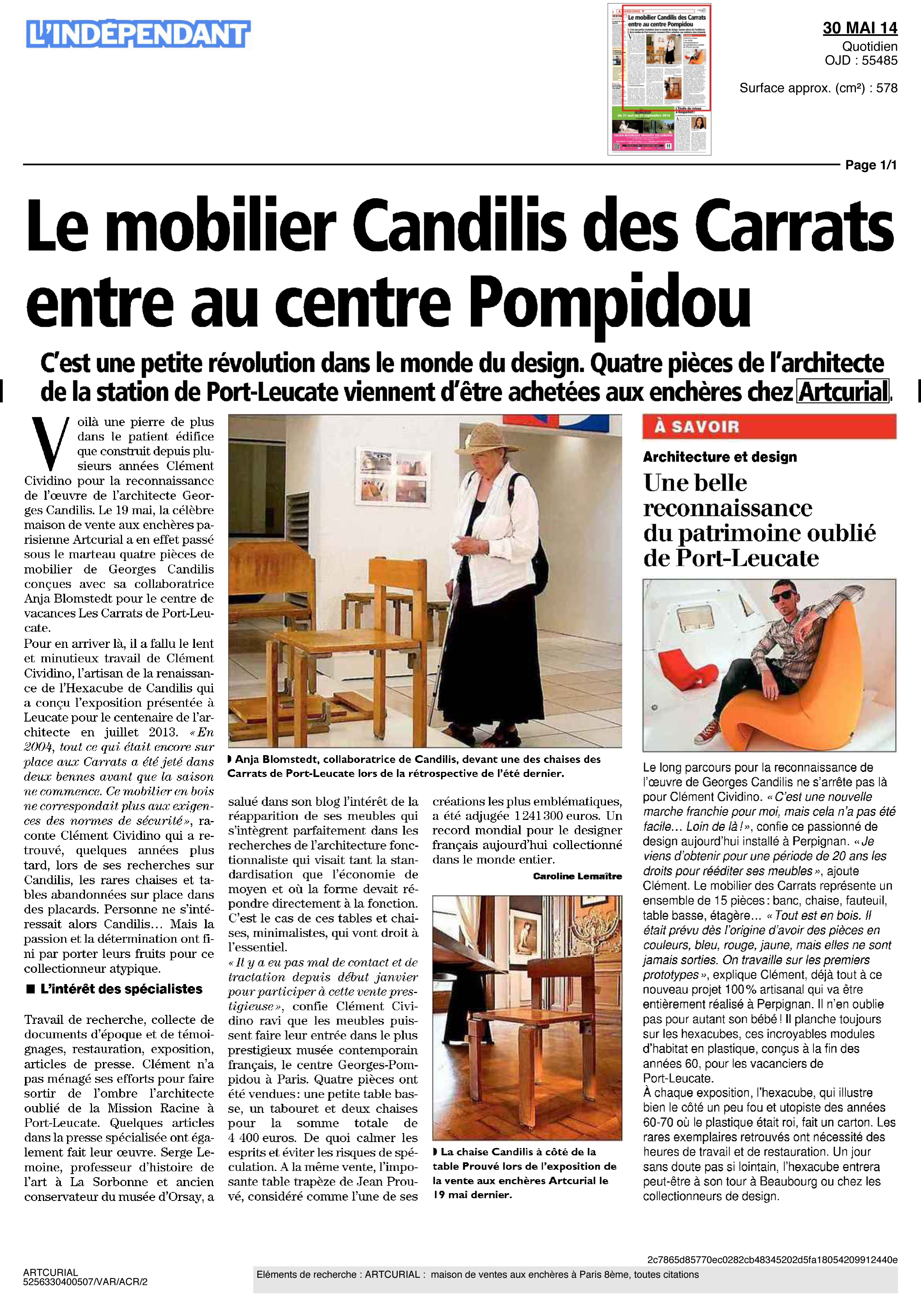 L'Independant-Candilis-Mai2014