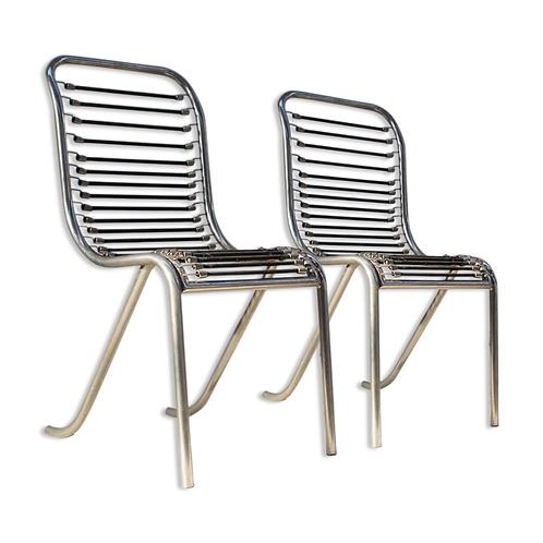 1950. Michel Duffet. Set 2 chairs