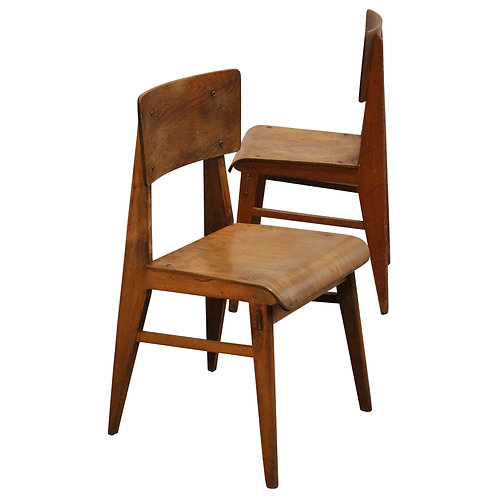1942. Jean Prouvé / Set 2 chairs