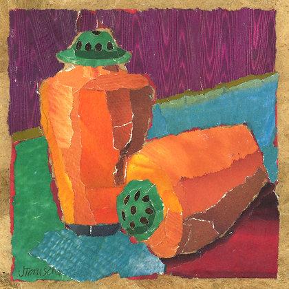Tile: Orange Salt + Pepper Shakers