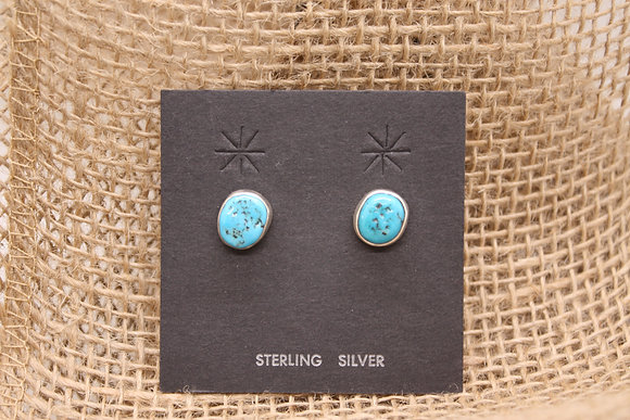 Turquoise Free Form Nugget Earrings
