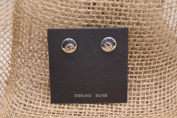 Silver Porcupine Studs