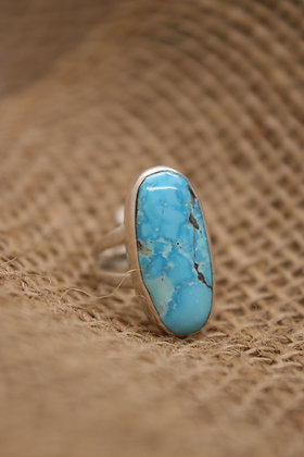 Morenci Turquoise + Silver Ring