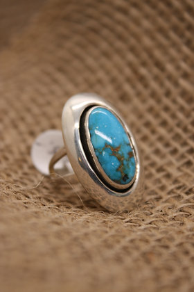 Turquoise + Silver Ring