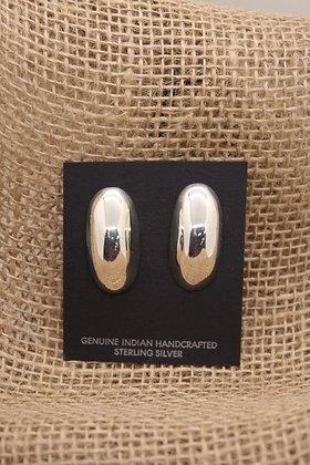 Silver Dome Earrings