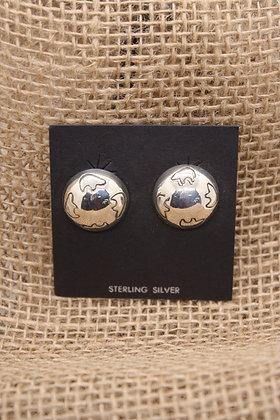 Silver Globe + Bears Earrings
