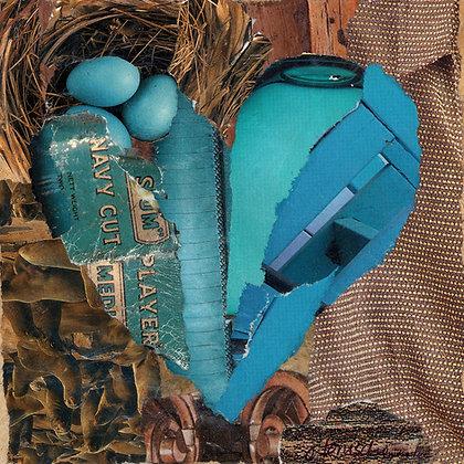 Tile: Aquamarine Heart