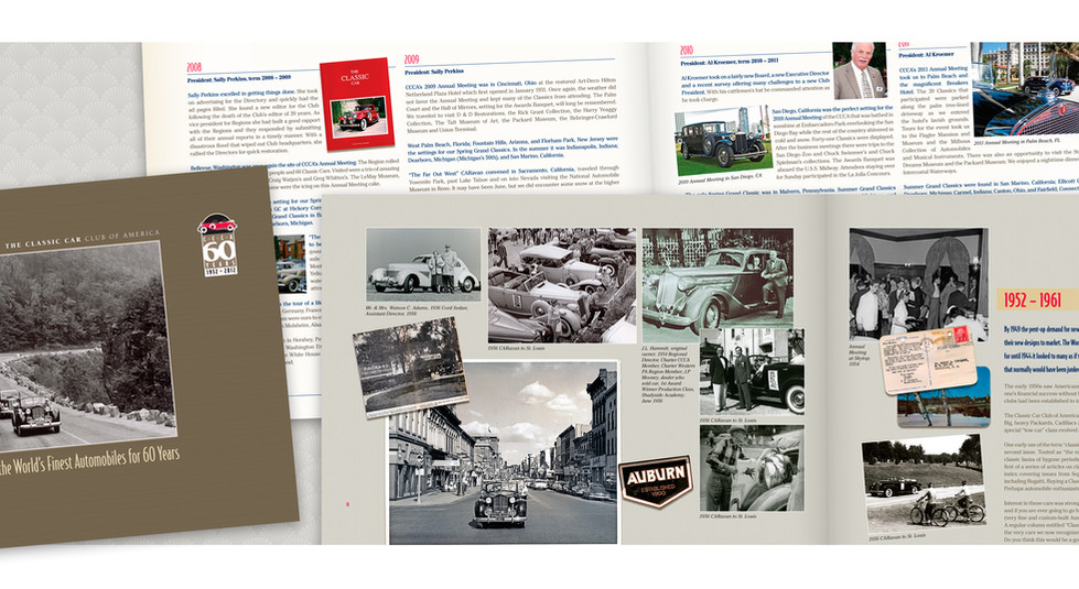 Classic Car Club of America History Book