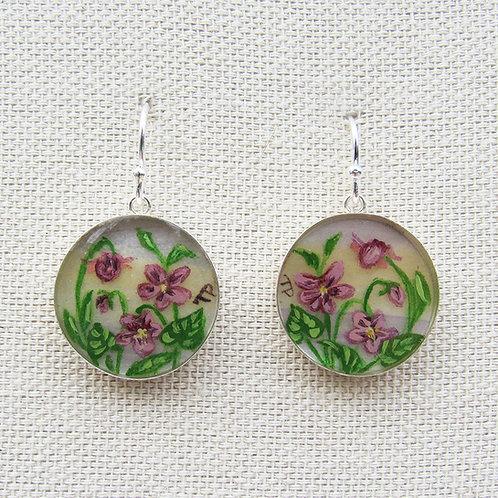 Violets Earrings