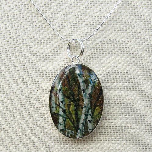 Autumn Birches Necklace