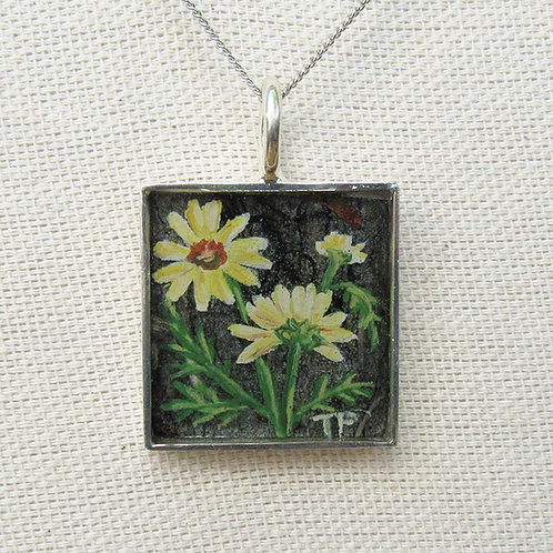 Daisies Square Necklace