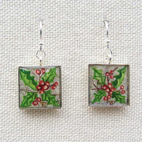 Holly Square Earrings